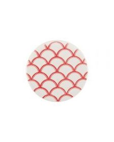 Red Geometric Coaster