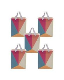 Set of 5 Candy Color Block Small Origami Geo Gift