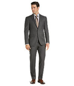 Traveler Collection Slim Fit Micro Check Suit Sepa