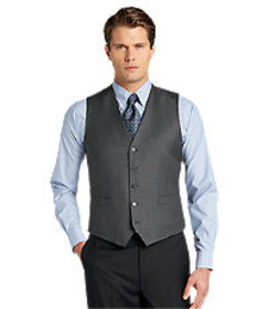 Traveler Collection Tailored Fit Sharkskin Suit Se