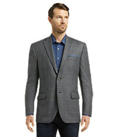 Reserve Collection Traditional Fit Windowpane Plai