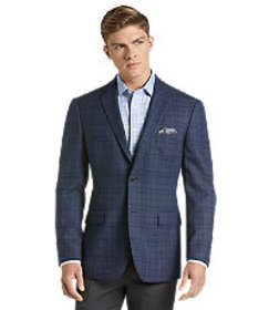 Traveler Collection Tailored Fit Plaid Sportcoat -
