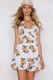 Flowers for All Hours Wrap Dress