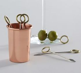 Copper Cocktail Picks Set