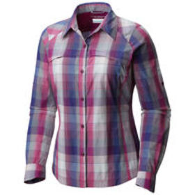 COLUMBIA Women's Silver Ridge Plaid Long-Sleeve Sh