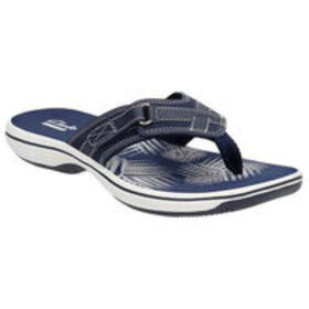 CLARKS Women's Breeze Sea Flip-Flops, Navy
