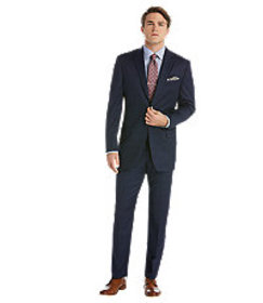 Reserve Collection Traditional Fit Plaid Suit CLEA