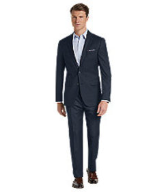 Traveler Collection Slim Fit Sharkskin Suit CLEARA