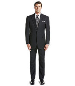 Signature Gold Traditional Fit Fineline Suit CLEAR
