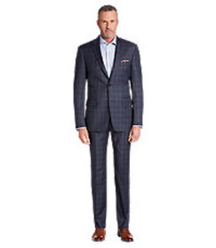 Signature Gold Collection Tailored Fit Plaid Suit