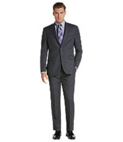 Traveler Collection Tailored Fit Grid Stripe Suit