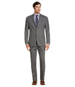 Traveler Collection Tailored Fit Micro Stripe Suit