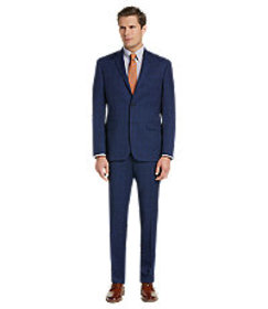 Traveler Collection Tailored Fit Windowpane Suit C