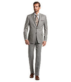 Reserve Collection Tailored Plaid Suit - Big & Tal