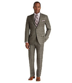 Reserve Collection Tailored Fit Plaid Suit CLEARAN