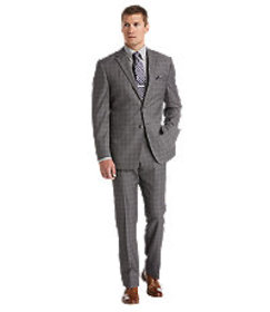 Reserve Collection Tailored Fit Plaid Suit - Big &