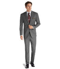 1905 Tailored Fit 2-Button Wool Suit with Plain Fr