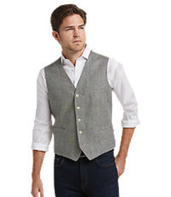 1905 Collection Tailored Fit Tic Vest CLEARANCE