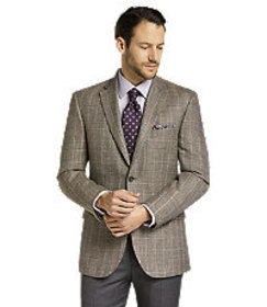Reserve Collection Tailored Fit Plaid Sportcoat CL