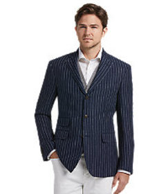 1905 Collection Tailored Fit Stripe Sportcoat - Bi