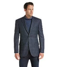 Signature Collection Tailored Fit Windowpane Plaid