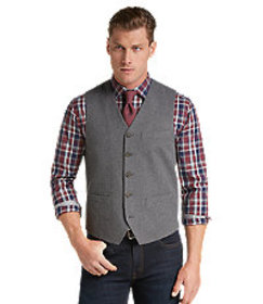1905 Collection Tailored Fit Cotton Twill Vest CLE