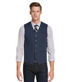 1905 Collection Tailored Fit Pique Vest CLEARANCE