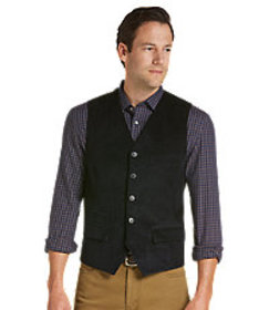 Reserve Collection Tailored Fit Corduroy Vest CLEA