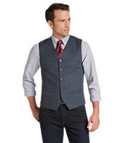 Reserve Collection Tailored Fit Woven Pattern Vest