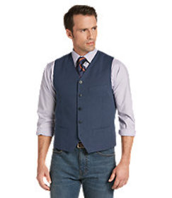 Reserve Collection Tailored Fit Basketweave Vest C