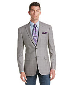 Signature Collection Regal Fit Windowpane Sportcoa