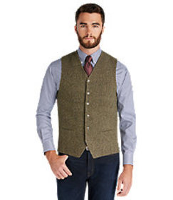 1905 Collection Tailored Fit Tweed Vest CLEARANCE