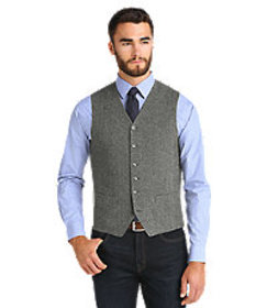 1905 Collection Tailored Fit Check Vest CLEARANCE