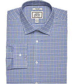 1905 Collection Slim Fit Spread Collar Plaid Dress