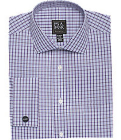 Executive Collection Tailored Fit Spread Collar Pl