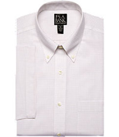 Traveler Collection Tailored Fit Button-Down Colla