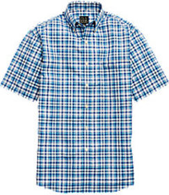 Traveler Collection Traditional Fit Plaid Short-Sl