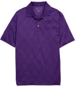 David Leadbetter Traditional Fit Short Sleeve Polo