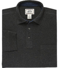 1905 Tailored Fit Long-Sleeve Donegal Polo Shirt C