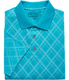 David Leadbetter Double Diamond Pattern Short-Slee