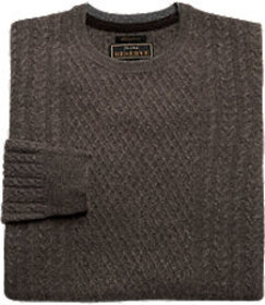 Reserve Collection Cashmere Fisherman Cable Crewne