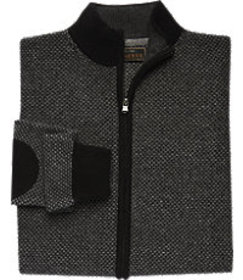 Reserve Collection Tailored Fit Birdseye Zip Front