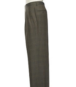 Executive Collection Traditional Fit Pleated Front