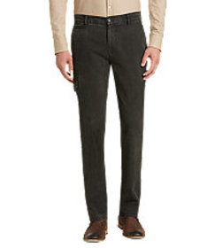 1905 Collection Tailored Fit Flat Front Cotton Can