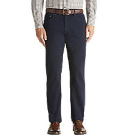 Joseph Abboud Traditional Fit 5-Pocket Sateen Pant