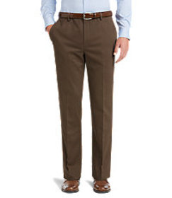 Traveler Collection Tailored Fit Flat Front Comfor