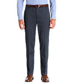 Traveler Collection Tailored Fit Flat Front Heathe
