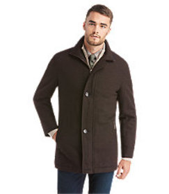 Executive Collection Traditional Fit Tweed Coat CL
