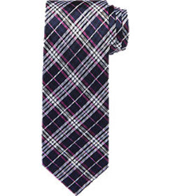 Traveler Collection Plaid Tie - Long CLEARANCE