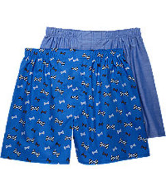 Jos. A. Bank Bowtie & Solid Pattern Woven Boxers,